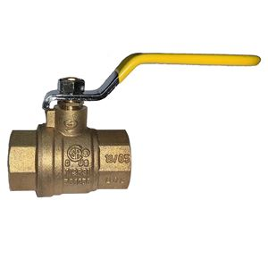 Picture of 1-1/4 FPT Forged Brass Full Port Ball Valve 600 WOG, 150 WSP (CSA CGA UL)