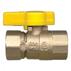 Picture of GAS-FLO 3/8 FPT Forged Brass Ball Valve CSA Certified To 5 PSI