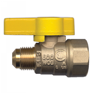 Picture of GAS-FLO 1/2 Tube x 1/2 FPT Forged Brass Ball Valve CSA Certified To 5 PSI