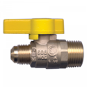 Picture of GAS-FLO 3/8 Tube x 1/2 MPT Forged Brass Ball Valve CSA Certified To 5 PSI