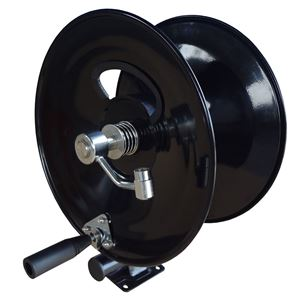 "Picture of 3/8"" x 150' Industrial Hose Reel with Mounting Base 5,000 PSI 185° F"