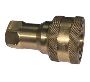 Picture of 1/2 Coupler x 1/2 Female Pipe ISO B 7241-1 Brass 3,500 PSI Quick Disconnect
