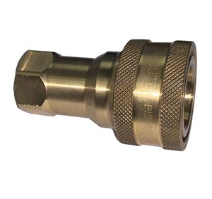 Picture of 3/8 Coupler x 3/8 Female Pipe ISO B 7241-1 Brass 3,500 PSI Quick Disconnect