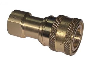 Picture of 1/4 Coupler x 1/4 FPT ISO B 7241-1 Brass 3,500 PSI Quick Disconnect