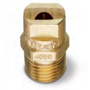 "Picture of 65º x #10 Brass H-U 1/4"" (M) VeeJet® Spray Nozzle"