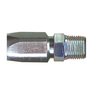 Picture of 3/8 ID x 3/8 MPT Steel Reusable Hose End SAE 100R5
