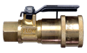 Picture of Gas-Flo 1/4 Ball Valve Coupler x 1/4 FPT CSA RV Gas Quick Disconnect
