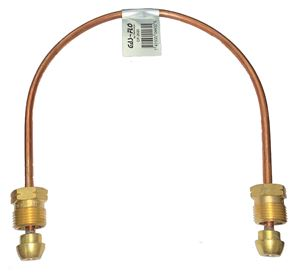 """Picture of Gas-FLO 1/4 OD x 20"""" Short POL x Short POL Copper Propane Gas Pigtail"""