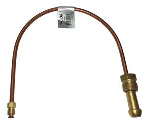 """Picture of Gas-FLO 1/4 OD x 20"""" Long POL x 1/4 M Swivel Inv Flare Copper Propane Gas Pigtail"""