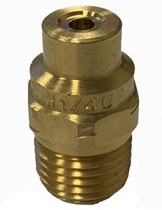 "Picture of 0º x #40 Brass H-U 1/4"" (M) VeeJet® Spray Nozzle"