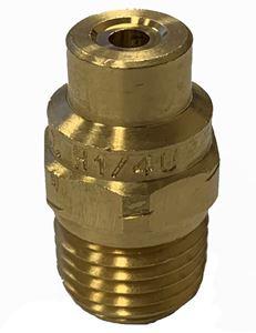 "Picture of 0º x #20 Brass H-U 1/4"" (M) VeeJet® Spray Nozzle"