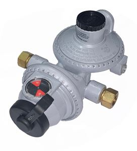 Picture of Gas-Flo Compact LP-Gas 2 Stage Automatic Changeover Regulator 1/4 F.Inv x 3/8 FPT