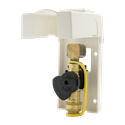 "Picture of Gas-Flo 3/8"" Natural Gas / Propane Gas Outlet with White ABS Housing"