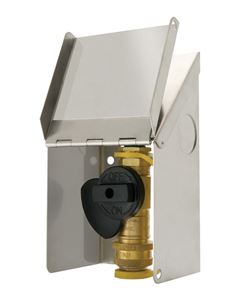 "Picture of Gas-Flo 3/8"" Natural Gas / Propane Gas Outlet with Stainless Cover"