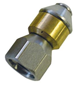 "Picture of Mecline Rotating Sewer Nozzle 1/8"", #  3.0"