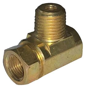Picture of GAS-FLO Dual Tank Manifold Tee 1/4 Inv Flare Inlets x 1/4 MPT Outlet
