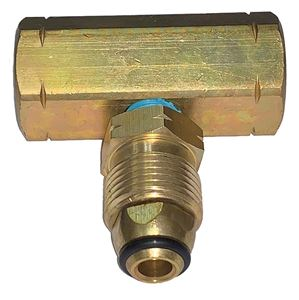 Picture of GAS-FLO Manifold Block Tee Assy with O-Ring Female POL (2) x Male POL