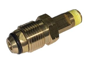 """Picture of GAS-FLO Tailpiece Assembly with O-Ring POL x 1/4 MPT 2-1/2"""" OAL"""