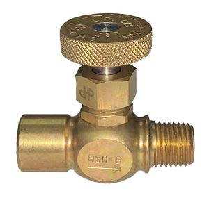 Picture of Gas-Flo Brass Precision LP Gas Needle Valve 1/4 FPT x 1/4 MPT