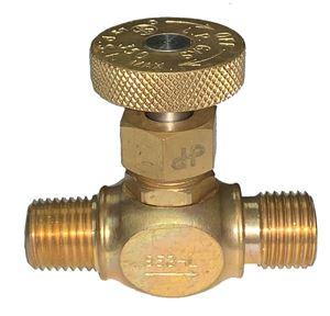 Picture of Gas-Flo Brass Precision LP Gas Welding Std Needle Valve 1/4 MPT x 9/16-18 LH