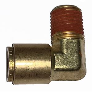 Picture of 3/8 Tube x 1/2 MPT DOT Push-To-Connect 90° Male Elbow Air Brake Fitting