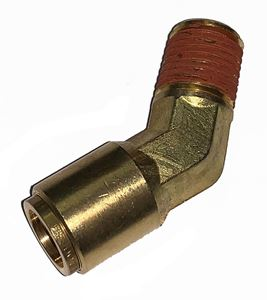 Picture of 1/2 Tube x 1/4 MPT DOT Push-To-Connect 45° Male Elbow Air Brake Fitting