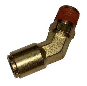 Picture of 3/8 Tube x 3/8 MPT DOT Push-To-Connect 45° Male Swivel Elbow Air Brake Fitting