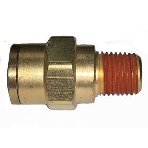 Picture of 1/2 Tube x 1/4 MPT DOT Push-To-Connect Male NPT Connector Air Brake Fitting