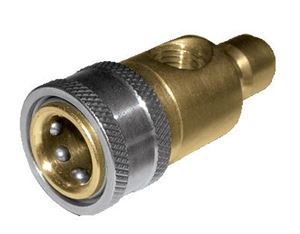 Picture of Brass Top Mount Pressure Gauge Quick Disconnect Fitting