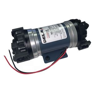 """Picture of Delavan FB6 Double Pump 12V, 70 PSI,10 GPM, BYP 3/4"""" Quick Attach"""