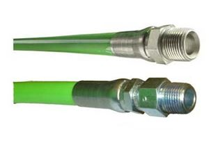 """Picture of Piranha® 1/4"""" x 200' Sewer Jetter Hose 4,000 PSI Green (MxMS)"""