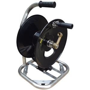 """Picture of 3/8"""" x 100' Industrial Hose Reel On SS Base with Carry Handle 5,000 PSI"""