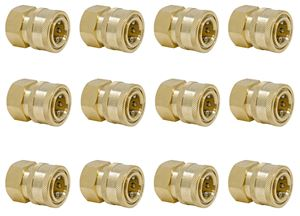 Picture of 12 Pack Quick Disconnect Sockets, Brass 3/8 x 3/8 NPT-F 4,000 PSI