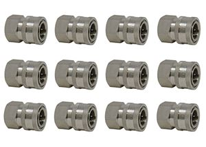 Picture of 12 Pack Quick Disconnect Sockets, Stainless Steel 3/8 x 3/8 NPT-F 5,000 PSI