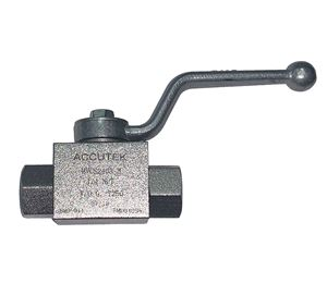 Picture of Accutek 1/4 FPT 3 Piece Steel High Pressure Full Port Ball Valve 7,250 WOG