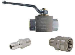 """Picture of 3/8"""" Ball Valve Kit with GP SS Quick Disconnect Couplers 5,000 PSI"""