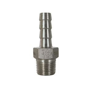 Picture of 3/8 MPT x 3/8 B Hose Barb 316 Stainless Steel